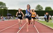 2 June 2018; Jo Keane of St Flannan's Ennis, Co. Clare, on her way to winning the Senior Girls 800 Metres during the Irish Life Health All-Ireland Schools Track and Field Championships at Tullamore Harriers Stadium in Tullamore, Co. Offaly. Photo by Sam Barnes/Sportsfile