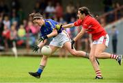2 June 2018; Mairead Morrissey of Tipperary in action against Eimear Meaney of Cork during the TG4 Munster Senior Ladies Football Championship semi-final between Tipperary and Cork at Ardfinnan, Tipperary. Photo by Matt Browne/Sportsfile