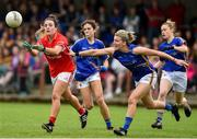 2 June 2018; Orlagh Farmer of Cork in action against Jennifer Grant of Tipperary during the TG4 Munster Senior Ladies Football Championship semi-final between Tipperary and Cork at Ardfinnan, Tipperary. Photo by Matt Browne/Sportsfile