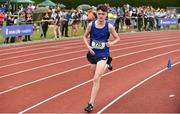 2 June 2018; Miceal McCaul of St Colmans Newry, Co. Armagh, on his way to winning the  Intermediate Boys 3000 Metres during the Irish Life Health All-Ireland Schools Track and Field Championships at Tullamore Harriers Stadium in Tullamore, Co. Offaly. Photo by Sam Barnes/Sportsfile
