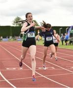 2 June 2018; Rachel McCann of Sullivan Upper Holywood, Co. Down, on her way to winning the  Intermediate Girls 300 Metres during the Irish Life Health All-Ireland Schools Track and Field Championships at Tullamore Harriers Stadium in Tullamore, Co. Offaly. Photo by Sam Barnes/Sportsfile