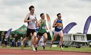 2 June 2018; Jack Mitchell of Presentation Carlow, Co. Carlow, left, on his way to winning the Senior Boys 400 Metres during the Irish Life Health All-Ireland Schools Track and Field Championships at Tullamore Harriers Stadium in Tullamore, Co. Offaly. Photo by Sam Barnes/Sportsfile