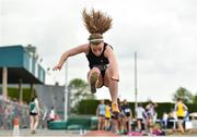 2 June 2018; Aideen Drury of Our Lady's Castleblaney, Co. Monaghan, competing in the Minor Girls Long Jump during the Irish Life Health All-Ireland Schools Track and Field Championships at Tullamore Harriers Stadium in Tullamore, Co. Offaly. Photo by Sam Barnes/Sportsfile