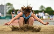 2 June 2018; Sophie Hoey of Strathearn Belfast, competing in the Minor Girls Long Jump during the Irish Life Health All-Ireland Schools Track and Field Championships at Tullamore Harriers Stadium in Tullamore, Co. Offaly. Photo by Sam Barnes/Sportsfile