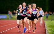 2 June 2018; Lucy O'Keeffe of St Marys Midleton, Co. Cork, second left, leads the field during the Under 16 Girls 1 Mile during the Irish Life Health All-Ireland Schools Track and Field Championships at Tullamore Harriers Stadium in Tullamore, Co. Offaly. Photo by Sam Barnes/Sportsfile