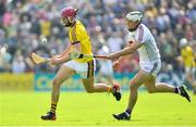 2 June 2018; Paudie Foley of Wexford in action against Daithi Burke of Galway during the Leinster GAA Hurling Senior Championship Round 4 match between Wexford and Galway at Innovate Wexford Park in Wexford. Photo by Ramsey Cardy/Sportsfile