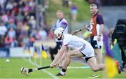 2 June 2018; Joe Canning of Galway takes a successful sideline cut during the Leinster GAA Hurling Senior Championship Round 4 match between Wexford and Galway at Innovate Wexford Park in Wexford. Photo by Ramsey Cardy/Sportsfile