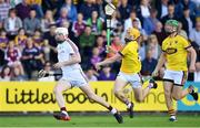 2 June 2018; Joe Canning of Galway in action against Damien Reck of Wexford during the Leinster GAA Hurling Senior Championship Round 4 match between Wexford and Galway at Innovate Wexford Park in Wexford. Photo by Ramsey Cardy/Sportsfile