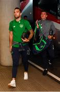 2 June 2018; Shane Duffy and Darragh Lenihan of Republic of Ireland arrives prior to the International Friendly match between Republic of Ireland and the United States at the Aviva Stadium in Dublin. Photo by Stephen McCarthy/Sportsfile