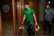 2 June 2018; John Egan, left, and Conor O'Malley of Republic of Ireland arrive prior to the International Friendly match between Republic of Ireland and the United States at the Aviva Stadium in Dublin. Photo by Stephen McCarthy/Sportsfile