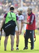 2 June 2018; Joe Canning of Galway is treated for an injury during the Leinster GAA Hurling Senior Championship Round 4 match between Wexford and Galway at Innovate Wexford Park in Wexford. Photo by Ramsey Cardy/Sportsfile