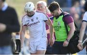 2 June 2018; Joe Canning of Galway leaves the pitch after picking up an injury during the Leinster GAA Hurling Senior Championship Round 4 match between Wexford and Galway at Innovate Wexford Park in Wexford. Photo by Ramsey Cardy/Sportsfile