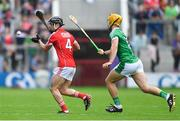 2 June 2018; Colm Spillane of Cork in action against Tom Morrissey of Limerick during the Munster GAA Hurling Senior Championship Round 3 match between Cork and Limerick at Páirc Uí Chaoimh in Cork. Photo by Piaras Ó Mídheach/Sportsfile