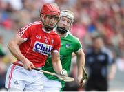 2 June 2018; Bill Cooper of Cork in action against Cian Lynch of Limerick during the Munster GAA Hurling Senior Championship Round 3 match between Cork and Limerick at Páirc Uí Chaoimh in Cork. Photo by Piaras Ó Mídheach/Sportsfile