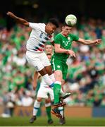 2 June 2018; Declan Rice of Republic of Ireland in action against Joe Corona of United States during the International Friendly match between Republic of Ireland and the United States at the Aviva Stadium in Dublin. Photo by Stephen McCarthy/Sportsfile