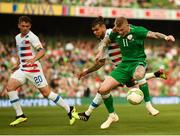2 June 2018; James McClean of Republic of Ireland in action against DeAndre Yedlin of United States during the International Friendly match between Republic of Ireland and the United States at the Aviva Stadium in Dublin. Photo by Stephen McCarthy/Sportsfile