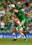 2 June 2018; Shane Duffy of Republic of Ireland in action against Rubio Rubin of United States during the International Friendly match between Republic of Ireland and the United States at the Aviva Stadium in Dublin. Photo by Seb Daly/Sportsfile
