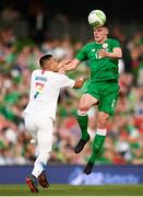 2 June 2018; Declan Rice of Republic of Ireland in action against Bobby Wood of United States during the International Friendly match between Republic of Ireland and the United States at the Aviva Stadium in Dublin. Photo by Stephen McCarthy/Sportsfile