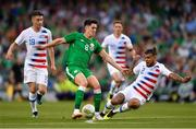 2 June 2018; Callum O'Dowda of Republic of Ireland in action against Jorge Villafaña, left, and DeAndre Yedlin of United States during the International Friendly match between Republic of Ireland and the United States at the Aviva Stadium in Dublin. Photo by Seb Daly/Sportsfile