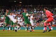 2 June 2018; Bobby Wood of United States scores his side's first goal during the International Friendly match between Republic of Ireland and the United States at the Aviva Stadium in Dublin. Photo by Eóin Noonan/Sportsfile