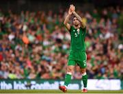 2 June 2018; Shane Duffy of Republic of Ireland during the International Friendly match between Republic of Ireland and the United States at the Aviva Stadium in Dublin. Photo by Stephen McCarthy/Sportsfile