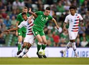2 June 2018; Declan Rice of Republic of Ireland in action against Tyler Adams of United States during the International Friendly match between Republic of Ireland and the United States at the Aviva Stadium in Dublin. Photo by Eóin Noonan/Sportsfile