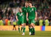 2 June 2018; James McClean, left, and Seamus Coleman of Republic of Ireland after the International Friendly match between Republic of Ireland and the United States at the Aviva Stadium in Dublin.  Photo by Eóin Noonan/Sportsfile