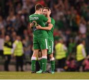 2 June 2018; Seamus Coleman, left, and Alan Judge of Republic of Ireland after the International Friendly match between Republic of Ireland and the United States at the Aviva Stadium in Dublin. Photo by Eóin Noonan/Sportsfile