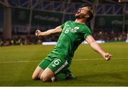 2 June 2018; Alan Judge of Republic of Ireland celebrates after scoring his side's second goal during the International Friendly match between Republic of Ireland and the United States at the Aviva Stadium in Dublin. Photo by Stephen McCarthy/Sportsfile