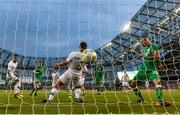 2 June 2018; Graham Burke of Republic of Ireland shoots to score his side's first goal during the International Friendly match between Republic of Ireland and the United States at the Aviva Stadium in Dublin. Photo by Stephen McCarthy/Sportsfile