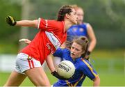 2 June 2018; Eimear Meaney of Cork in action against Roisin Howard of Tipperary during the TG4 Munster Senior Ladies Football Championship semi-final between Tipperary and Cork at Ardfinnan, Tipperary. Photo by Matt Browne/Sportsfile