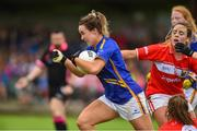 2 June 2018; Brid Condon of Tipperary in action against Orlagh Farmer of Cork during the TG4 Munster Senior Ladies Football Championship semi-final between Tipperary and Cork at Ardfinnan, Tipperary. Photo by Matt Browne/Sportsfile