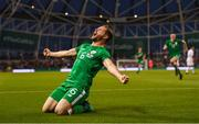 2 June 2018; Alan Judge of Republic of Ireland celebrates after scoring his side's winning goal during the International Friendly match between Republic of Ireland and the United States at the Aviva Stadium in Dublin. Photo by Stephen McCarthy/Sportsfile