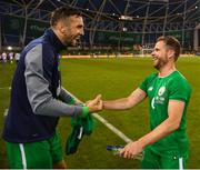 2 June 2018; Alan Judge, right, and Shane Duffy of Republic of Ireland following the International Friendly match between Republic of Ireland and the United States at the Aviva Stadium in Dublin. Photo by Stephen McCarthy/Sportsfile
