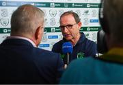 2 June 2018; Republic of Ireland manager Martin O'Neill speaks to RTÉ following the International Friendly match between Republic of Ireland and the United States at the Aviva Stadium in Dublin. Photo by Stephen McCarthy/Sportsfile