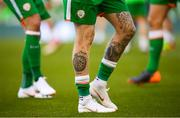 2 June 2018; A detailed view of of the tattoos of James McClean of Republic of Ireland during the International Friendly match between Republic of Ireland and the United States at the Aviva Stadium in Dublin. Photo by Stephen McCarthy/Sportsfile