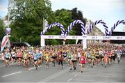 3 June 2018; A general view of the start during the 2018 Vhi Women's Mini Marathon. 30,000 women from all over the country took to the streets of Dublin to run, walk and jog the 10km route, raising much needed funds for hundreds of charities around the country. www.vhiwomensminimarathon.ie Photo by Sam Barnes/Sportsfile