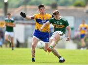 3 June 2018; James O'Donoghue of Kerry in action against Aaron Fitzgerald of Clare during the Munster GAA Football Senior Championship semi-final match between Kerry and Clare at Fitzgerald Stadium in Killarney, Kerry. Photo by Matt Browne/Sportsfile