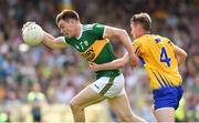 3 June 2018; Jack Barry of Kerry in action against Eoghan Collins of Clare during the Munster GAA Football Senior Championship semi-final match between Kerry and Clare at Fitzgerald Stadium in Killarney, Kerry. Photo by Matt Browne/Sportsfile