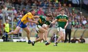 3 June 2018; David Clifford of Kerry in action against Gordon Kelly of Clare during the Munster GAA Football Senior Championship semi-final match between Kerry and Clare at Fitzgerald Stadium in Killarney, Kerry. Photo by Matt Browne/Sportsfile