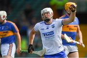 3 June 2018; Tom Devine of Waterford celebrates scoring his side's first goal during the Munster GAA Senior Hurling Championship Round 3 match between Waterford and Tipperary at the Gaelic Grounds in Limerick. Photo by Piaras Ó Mídheach/Sportsfile