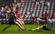 3 June 2018; Ian Burke of Galway scores his side's second goal of the game during the Connacht GAA Football Senior Championship semi-final match between Galway and Sligo at Pearse Stadium, Galway. Photo by Eóin Noonan/Sportsfile