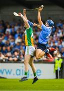 3 June 2018; Eoghan O'Donnell of Dublin in action against James Gorman of Offaly during the Leinster GAA Hurling Senior Championship Round 4 match between Dublin and Offaly at Parnell Park, Dublin. Photo by Seb Daly/Sportsfile