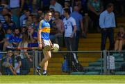 3 June 2018; Michael Cahill of Tipperary makes his way to the dressing room at half-time after being sent off seconds before the break during the Munster GAA Senior Hurling Championship Round 3 match between Waterford and Tipperary at the Gaelic Grounds in Limerick. Photo by Piaras Ó Mídheach/Sportsfile