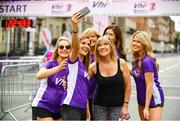 3 June 2018; Vhi ambassadors, from left, Aoibhín Garrihy, Amanda Byram, Clare Garrihy, Betty Byram, Doireann Garrihy and Ailbhe Garrihy  during the 2018 Vhi Women's Mini Marathon. 30,000 women from all over the country took to the streets of Dublin to run, walk and jog the 10km route, raising much needed funds for hundreds of charities around the country. www.vhiwomensminimarathon.ie Photo by Sam Barnes/Sportsfile