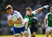 3 June 2018; Darren Hughes of Monaghan in action against James McMahon of Fermanagh during the Ulster GAA Football Senior Championship Semi-Final match between Fermanagh and Monaghan at Healy Park in Omagh, Co Tyrone. Photo by Oliver McVeigh/Sportsfile