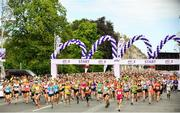 3 June 2018; Participants at the start during the 2018 Vhi Women's Mini Marathon. 30,000 women from all over the country took to the streets of Dublin to run, walk and jog the 10km route, raising much needed funds for hundreds of charities around the country. www.vhiwomensminimarathon.ie Photo by Sam Barnes/Sportsfile