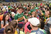 3 June 2018; David Clifford of Kerry signs autographs for supporters after the Munster GAA Football Senior Championship semi-final match between Kerry and Clare at Fitzgerald Stadium in Killarney, Kerry. Photo by Matt Browne/Sportsfile