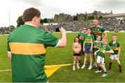 3 June 2018; Kieran Donaghy of Kerry in with supporters after the Munster GAA Football Senior Championship semi-final match between Kerry and Clare at Fitzgerald Stadium in Killarney, Kerry. Photo by Matt Browne/Sportsfile