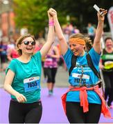 3 June 2018; Participants Agnes, left, and Eva Walczak following the 2018 Vhi Women's Mini Marathon. 30,000 women from all over the country took to the streets of Dublin to run, walk and jog the 10km route, raising much needed funds for hundreds of charities around the country. www.vhiwomensminimarathon.ie Photo by Ramsey Cardy/Sportsfile